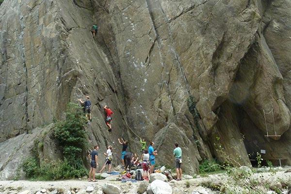 Klettern, Bouldern und Wellness bei Meran